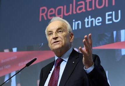 Dr. Edmund Stoiber, Vorsitzender der Hochrangigen Gruppe zur Reduzierung von Verwaltungslasten