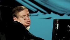 Prof. Dr. Stephen Hawking bei einer NASA Veranstaltung