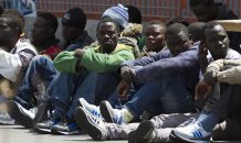Italy, migrants arrived in the Catania Harbour