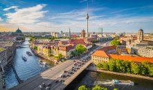 Ausblick über Berlin bei schönem Wetter.