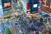 Tokio Kreuzung Menschen
